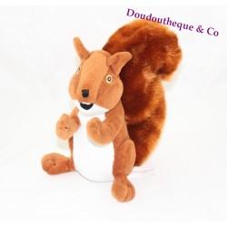Plush advertising fund savings red squirrel 20 cm