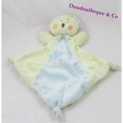 Doudou flat Koala KIMBALOO blue-green diamond-star La Halle 30 cm