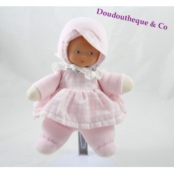 Doll girl dress pink COROLLA vichy collar lace Bell 22 cm
