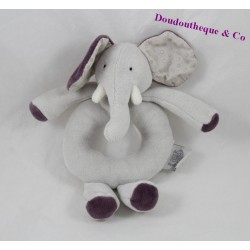 Rattle elephant MOULIN ROTY love, and Celeste gray Bell 18 cm