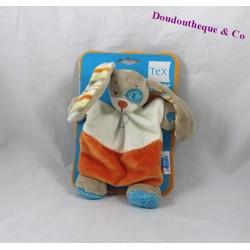 Doudou rabbit or dog flat TEX BABY black blue eye
