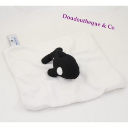 Doudou flat white Orca Orca MARINELAND square black and white 22 cm