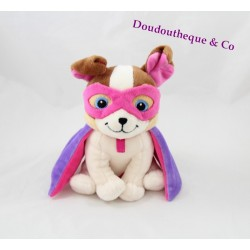 Peluche chien BARBIE super princesse masque cape 20 cm