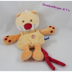 Doudou cat candy CANE attached nipple orange 20 cm