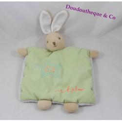 Doudou flat rabbit KALOO Winter Folies green star ribbon