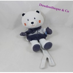 Teddy bear candy CANE scarf Blue Snowflake tie pacifier 19 cm