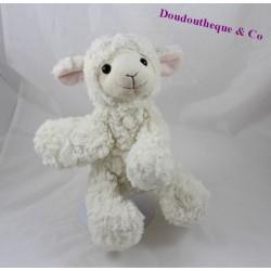 Doudou mouton MONOPRIX Dream International peluche douce 22 cm