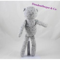Doudou chat BOUT'CHOU gris étoiles Monoprix 30 cm
