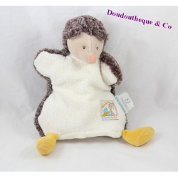Doudou puppet Hedgehog MOULIN ROTY Rusk and 22 cm white Brown Pompom