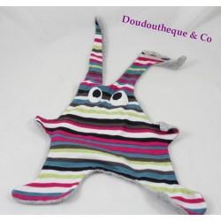 Doudou flat NOTSOBIG Toumou striped multicolored Rabbit rabbit
