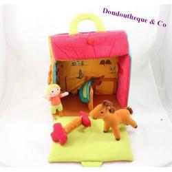 Jouet box à cheval EVEIL & JEUX boite refermable personnage en peluche