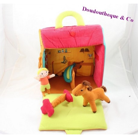 Toy horse awakening & games box box resealable character plush