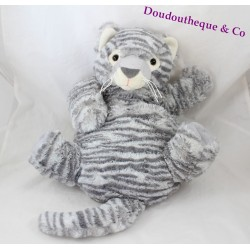 Plush Tiger ETAM grey range Pajamas doudou bouillotte 35 cm