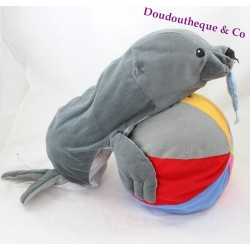 Stuffed sea lion IKEA seal with 42 cm grey fish
