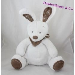 Peluche lapin SIMBA TOYS BENELUX blanc bandana marron assis 30 cm