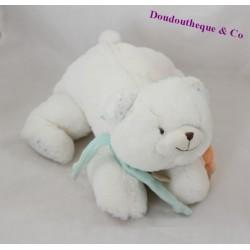 Doudou ours UNICEF Doudou et Compagnie blanc DC2463 25 cm
