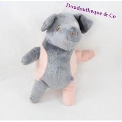 Peluche cochon IKEA Kelgris rose et gris 18 cm