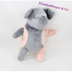 Pig plush IKEA Kelgris pink and grey 18 cm