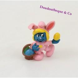 Figurine Schtroumpfette SCHLEICH lapin de Pâques rose Peyo