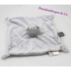 Doudou flat Mr. Hippo the gray home CHATOUNETS nipple 26 cm