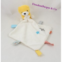 Doudou Fox HEMA yellow white handkerchief bear stars