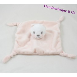 Doudou flat cat KIMBALOO rose 4 knots Brioche Hall