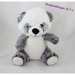 Peluche panda MAX & SAX blanc gris gros yeux 25 cm