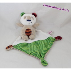 Doudou handkerchief panda CHEEKBONE stripes 15 cm