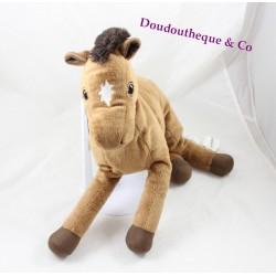 Peluche cheval IKEA Okenlopare marron étoile blanche 34 cm