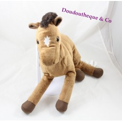 Plush horse IKEA Okenlopare Brown star 34 cm white
