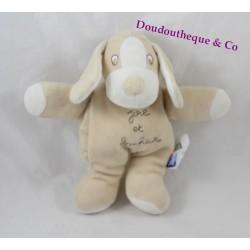Doudou chien beige  Sucre d'Orge