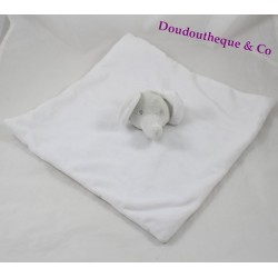 Doudou flat white grey PRIMARK elephant Star Baby Comforter
