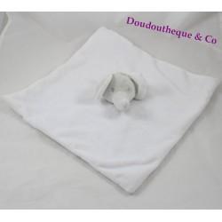 Doudou plat éléphant PRIMARK blanc gris étoile Baby Comforter