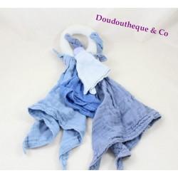 Doudou l'ange poignée DOUDOU ET COMPAGNIE bleu lapin lange Créateur de rêves DC2367
