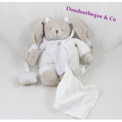 Doudou DOUDOU and company White Star rabbit heavenly gray handkerchief ventral 20 cm