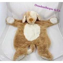 Doudou plat chien DOUGLAS beige satin Cuddle Toys Sshlumpie