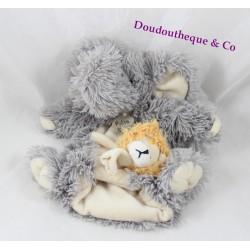 Doudou puppet elephant story bear lion finger HO2368