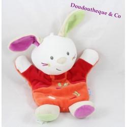 Doudou lapin SUCRE D'ORGE rouge orange radis carotte poire