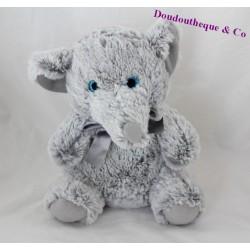 Peluche éléphant MAX & SAX gris gros yeux 24 cm