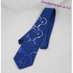Cravate homme Snoopy PEANUTS bleu blanc