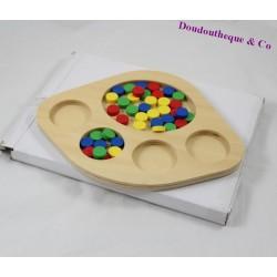Plateau de tri MONTESSORI jeu de tri couleurs bois 5 compartiments
