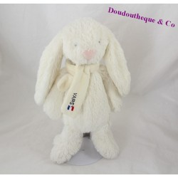 Doudou rabbit CMP scarf white Vars and nose rose 28 cm