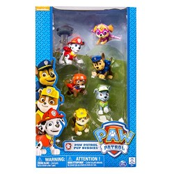 Pack de 6 figurines PAW PATROL Pat' Patrouille Nickelodeon Air pup buddies