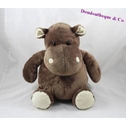 Peluche hippopotame HISTOIRE D'OURS marron HO1057 30 cm