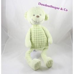 Peluche singe TEX BABY vert anis ventre relief 44 cm