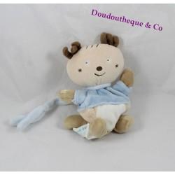 Doudou mouchoir cerf / élan SUCRE D'ORGE collection Cajou