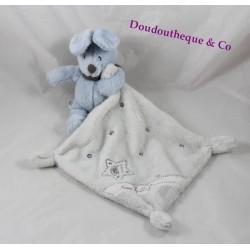 Doudou rabbit SIMBA TOYS BENELUX blue white Nicotoy 35 cm handkerchief