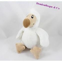 Peluche oiseau dodo WALLY PLUSH TOYS Mauritius queue beige 17 cm