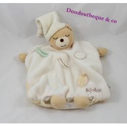 Doudou marionnette ours KALOO feuille Pure beige 26 cm