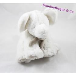 Peluche éléphant DOUDOU ET COMPAGNIE blanc taupe mon tout petit 18 cm